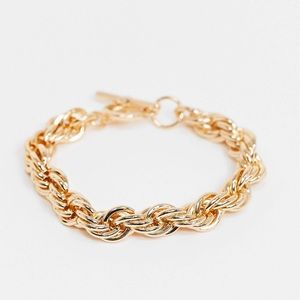 Topshop Chunky Rope Chain Barevelet with T Bar